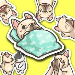 40 Cute French Bulldog Journal Stickers Frenchie Dog Stickers Diary Stickers