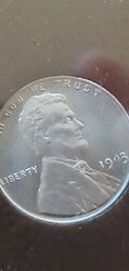 Ms68 1943 1c Lincoln Wheat Cent Very High Grade Certified Icg.