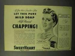 1945 Sweetheart Soap Ad - Help Prevent Chapping