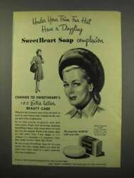 1946 Sweetheart Soap Ad - Under Your Trim Fur Hat