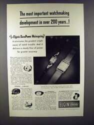 1947 Elgin Watch Ad - Most Important Watchmaking Development