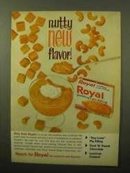 1964 Royal Carmel Nut Pudding And Pie Filling Ad - Nutty