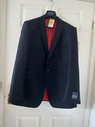 Mens Marks And Spencer Suit Jacket Rrp Andpound150 Bnwt Mohair Black Alfred Brown Mands