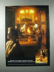 1990 Old Grand Dad Bourbon Whiskey Ad - Ladies Leave