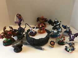 Sky Landers Lot Of 13 Figures, Base And Cord Tested Works Euc