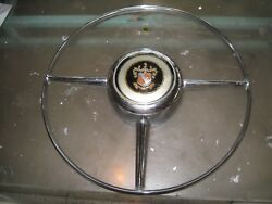 Vintage 1950 Buick Horn Ring Part 1340519 And Button, Oem Original 51,52