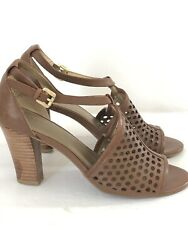 Circa Joan & David Size 6 12 Strappy Ankle Buckle Open Toe Brown Heels T-strap $18.99