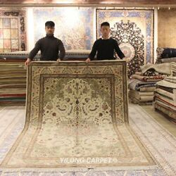 Clearance Yilong 6and039x9and039 Oriental Wool Silk Carpets Hand Knotted Area Rugs 1402