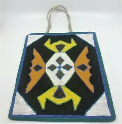 Vintage Large beaded purse bag satchel Yakima Native American geometric design $947.75