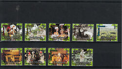 Cook Islands 2014 Mnh Highland Paradise 9v Set Cultures Ethnicities Trees