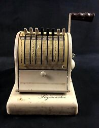 Vintage Paymaster 8 Column Check Writer With Key
