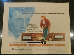 Rebel Without A Cause Original 1955 Movie Poster C8.5 Very Fine/near Mint