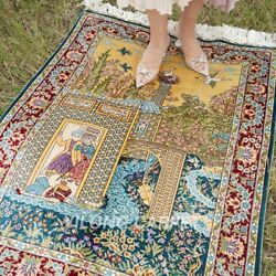 Yilong 2.7and039x4and039 Floral Handmade Silk Area Rug Antique Handiwork Carpets 0034