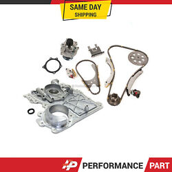Timing Chain Kit Timing Cover Water Pump Fit 02-07 Chevrolet Gmc Isuzu 3.5 4.2