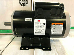 24469652 Air Compressor Motor 230v 3450 Rpm 1 Phase 5hp 184 Fr 7/8and039and039 Shaft