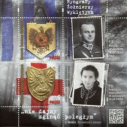 Poland 2018 Mnh Gorgets Of Cursed Soldiers 2v M/s Military Stamps