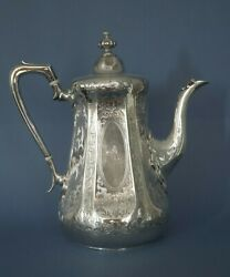 Sterling Silver 24ozt Victorian Coffee Pot. Very Rare London 1866 Dandc Houle