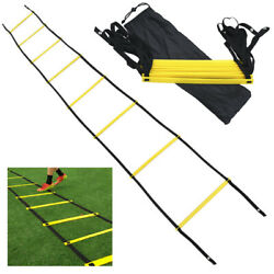 Agility Speed Training Ladder 8 12 20 Rung Footwork Fitness Football Exercise