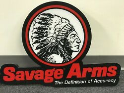 Savage Arms Pool Hall Bar Man Cave Bright Lighted Sign