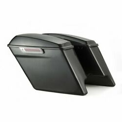 Charcoal Pearl 4.5 Stretched Extended Saddlebags Normal Lids Fits2014+ Harley