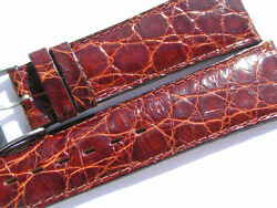 Breitling Band 23mm Croco Old Stock With Buckle Brown Marron Braun Strap Ib025