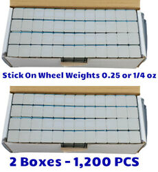 2 Boxes Gray Coated Wheel Weights 0.25 1/4 Oz. Stick On Adhesive Tape 1200 Pcs