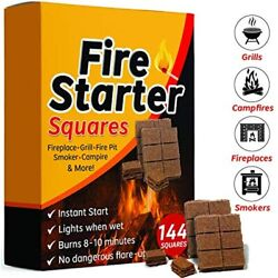 Fire Starter Squares 144, Starters For Fireplace, Wood Stove Free Ship