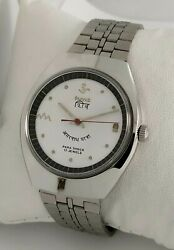 Hmt Shiv White Dial Mechanical Watch 17 Jewels Collectible Menand039s Watchnew