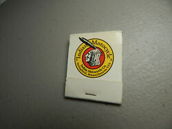 Vintage Rare Indian Motorcycle Co. Springfield Mass.matchbook