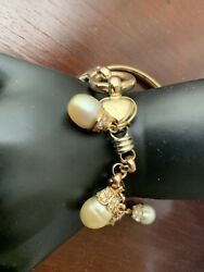 14k South Sea Pearls And Diamond Bracelet Made In Italy.great Mothers Day Gift