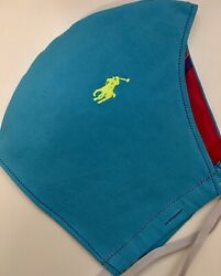 👕 Mens Turquoise Neon Yellow Polo Pony Face Mask Preppy Designer Y2K $26.00