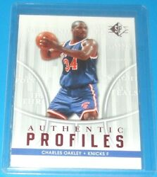 2008 09 UDC SP AP 1 Authentic Profiles Charles Oakley F Knicks Modern Original $7.50