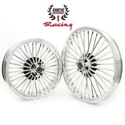 21 And 18 Front Rear Cast Wheels Double Disc Fat King Spoke Softail Touring Dyna