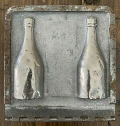 Vintage Wine Bottle Candy Molds Chocolate Hinge Double Sided Antique Two Pair