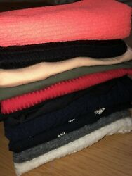 LOT OF 10 CUTE WOMENS CROP TOPS Hamp;M F21 Hollister and More Size Medium $44.99