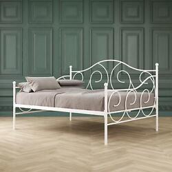 Contemporary Dhp Scrolling Victoria Metal Full Size White Daybed Seating Day Bed