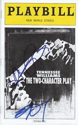 The Two Character Play Playbill.. Amanda Plummer And Brad Dourif - Signed