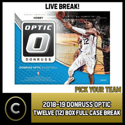 2018-19 Donruss Optic Basketball 12 Box Full Case Break B154 - Pick Your Team