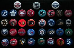Nhl Team Past And Present - Individual 1 1/2 Inch Magnets - Choose From List