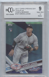 AARON JUDGE 2017 OPENING DAY TOYS R US PURPLE BORDER ROOKIE RC BCCG 9