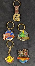 Disney Lot Of Four Keychains And One Magnet Pleasure Island