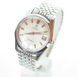 Omega Seamaster Watch Automatic Date Stainless Steel Antique 1970s Excellent