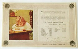 1899 Lb Seavey Writing To Papa Central National Bank Ink Blotter Attica Indiana