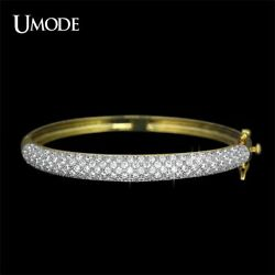 UMODE Luxurious Jewelry Gold & Rhodium Two Tone Color 129 pcs 0.03ct CZ Pave