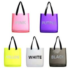 Transparent Jelly PVC Shopping Totes Women Shoulder Beach Travel Handbags #3YE C $14.90