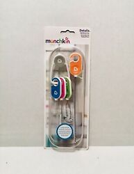 New Munchkin 4-piece Bottle And Cup Cleaning Brush Set With Key Ring Straw Lid
