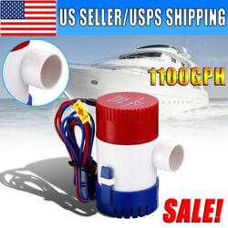 Us 1100gph 12v Electric Marine Submersible Bilge Sump Water Pump For Boat Yacht