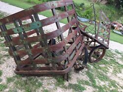 Antique Train Railroad Depot Baggage Cart Wagon Project Factory Old