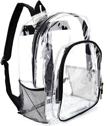 Heavy Duty Transparent Clear Backpack See Through Backpacks for SchoolSports $25.64