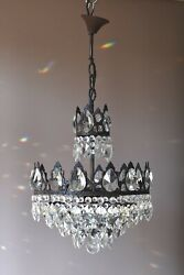 French Empire Vintage Crystal Chandelier, Antique Lighting, Lamp, Home Light